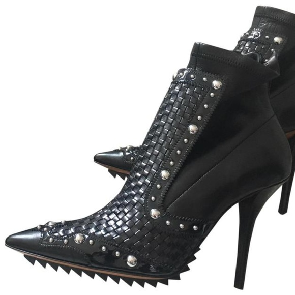 2eeaa5e23a3 Givenchy Iron Stud Leather Ankle Boots